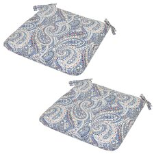 Nessa Paisley Poolside Outdoor Seat Cushion (Set of 2)