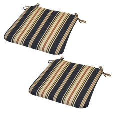 Caprice Stripe Outdoor Seat Cushion (Set of 2)