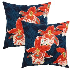 Orchid Outdoor Throw Pillow (Set of 2)