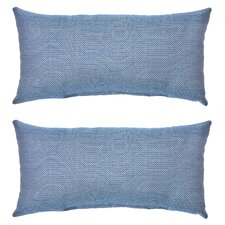 Peacock and Java Outdoor Lumbar Pillow (Set of 2)