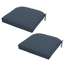 Ticking Stripe Outdoor Seat Cushion (Set of 2)