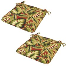 No Copoun Leaves Outdoor Dining Chair Seat Cushion (Set of 2)