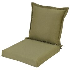 Pillow Back Outdoor Dining Chair Cushion