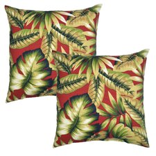 Leaves Outdoor Throw Pillow (Set of 2)