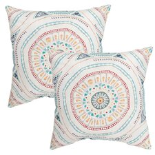 Medallion Outdoor Throw Pillow (Set of 2)