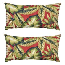 Today Only Sale Leaves Outdoor Lumbar Pillow (Set of 2)