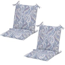 Nessa Paisley Poolside Mid-back Outdoor Dining Chair Cushion (Set of 2)