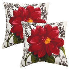 Home Dahlia Outdoor Throw Pillow (Set of 2)