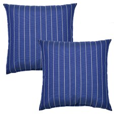 Ticking Outdoor Throw Pillow (Set of 2)
