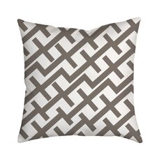 Positive Lines Geometric Throw Pillow