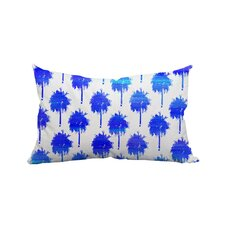 Mini Trinidad Palm Trees Polyester Lumbar Pillow