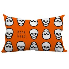 Holiday Treasures Mr. Bone Head Textual Indoor/Outdoor Lumbar Pillow