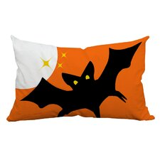 Herry Up Holiday Treasures Scary Night Bat Indoor/Outdoor Lumbar Pillow