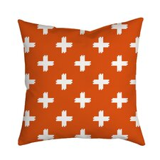Positively Colorful Geometric Indoor/Outdoor Throw Pillow