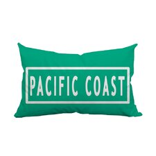 California Pacific Coast Textual Indoor/Outdoor Lumbar Pillow