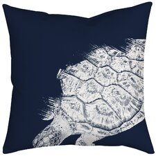 Turtle Watercolor Graphic Throw Pillow