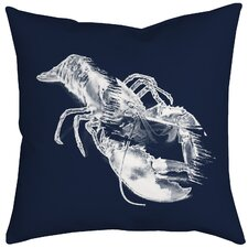 Lobster Watercolor Graphic Throw Pillow