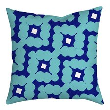 Diamond-Shaped Cloud Geometric Throw Pillow