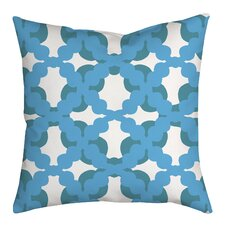 Lattice Fence Geometric Throw Pillow