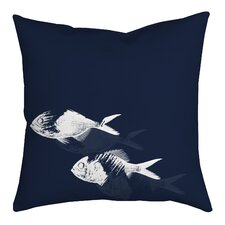 Fish Watercolor Graphic Throw Pillow