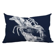 Lobster Watercolor Graphic Lumbar Pillow