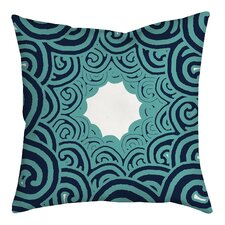 Beach Swirl on Geometric Throw Pillow