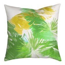 Trinidad Leaves and Palms Graphic Throw Pillow