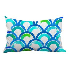 Fish Scale Watercolor Geometric Lumbar Pillow