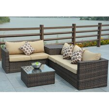 Jasmine 4 Piece Deep Seating Group with Cushion