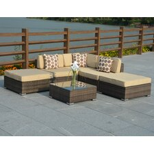 Panama 6 Piece Deep Seating Group with Cushion