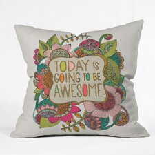 Valentina Ramos Today Is Going to Be Awesome Indoor/Outdoor Throw Pillow