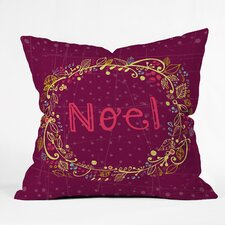 Rachael Taylor Noel Wreath Indoor/Outdoor Throw Pillow