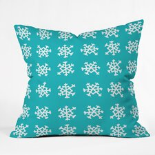 Leah Flores Snowflake Party Indoor/Outdoor Throw Pillow