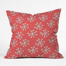 Allyson Johnson Holiday Snow Indoor/Outdoor Throw Pillow