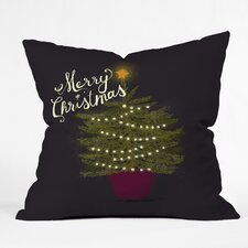 Joy Laforme Merry Christmas Little Tree Indoor/Outdoor Throw Pillow