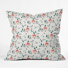 Zoe Wodarz Storybook Cabin Indoor/Outdoor Throw Pillow