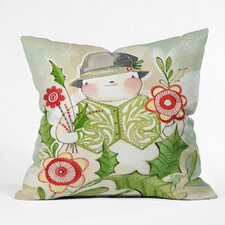 Cori Dantini Snowguy Indoor/Outdoor Throw Pillow