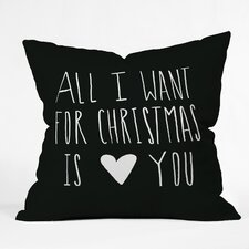 Leah Flores All I Want For Christmas is You Indoor/Outdoor Throw Pillow