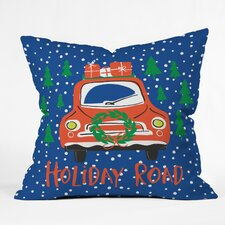 Zoe Wodarz Holiday Road Indoor/Outdoor Throw Pillow