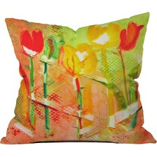 Citrus Tulips by Laura Trevey Indoor/Outdoor Throw Pillow