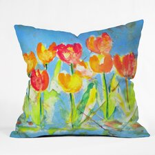 Great Reviews Spring Tulips by Laura Trevey Indoor/Outdoor Throw Pillow