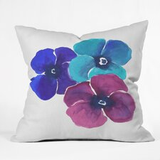 Jewel Tone Pansies by Laura Trevey Indoor/Outdoor Throw Pillow