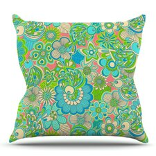 Welcome Birds to my Garden by Julia Grifol Outdoor Throw Pillow