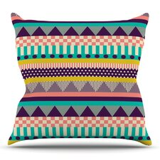 Decorative Stripes by Louise Machado Outdoor Throw Pillow