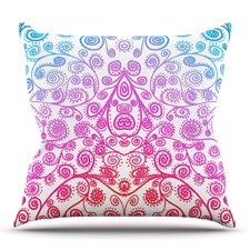 Cool Safe and Sound by Monika Strigel Outdoor Throw Pillow