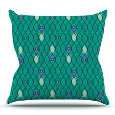 Suncoast Emerald by Allison Beilke Outdoor Throw Pillow