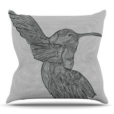 Hummingbird by Belinda Gillies Outdoor Throw Pillow