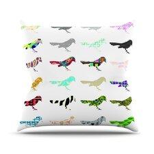 Birds Outdoor Throw Pillow