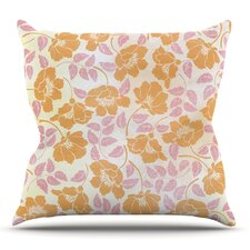 Sun Kissed Petals by Heidi Jennings Outdoor Throw Pillow