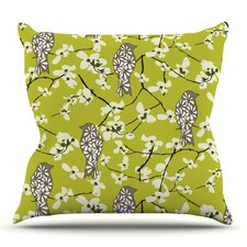 Blossom Bird by Julie Hamilton Outdoor Throw Pillow